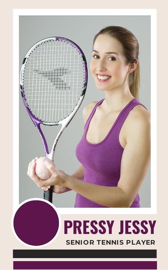 Free Senior Tennis Trading Card Template