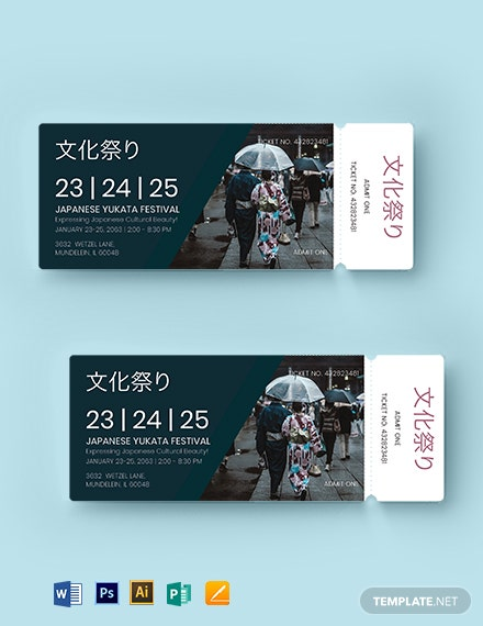 multipurpose event ticket