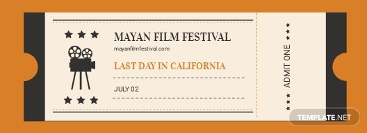 Old School Movie Ticket Template