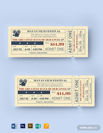 old time  movie ticket