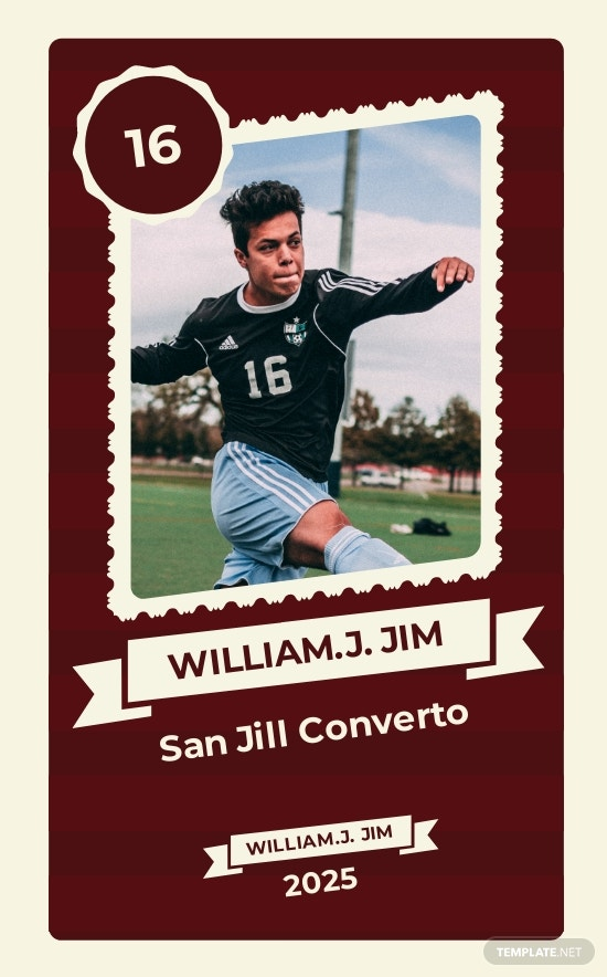 Free Soccer Trading Card Template