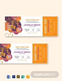 Save The Date Movie Ticket Template