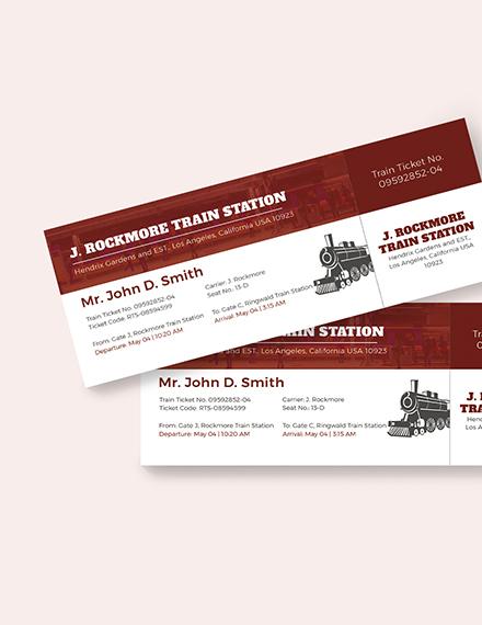 Sample Simple Train Ticket