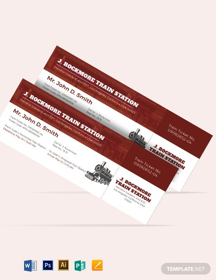 Simple Train Ticket Template