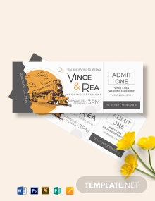 Train Wedding Ticket Template