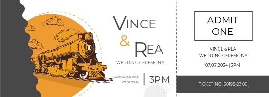 Train Wedding Ticket Template