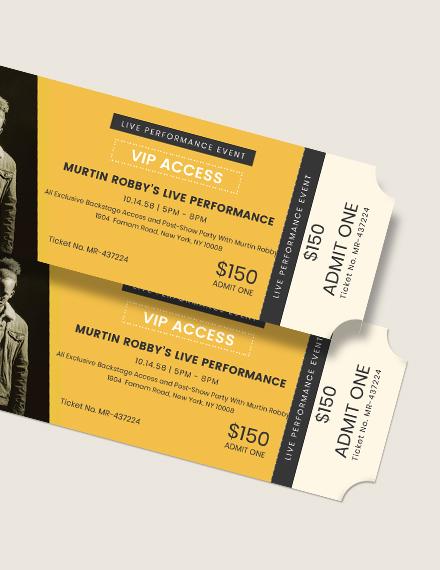 VIP Live Event Ticket Download
