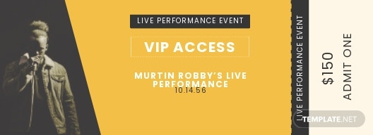VIP Live Event Ticket Template