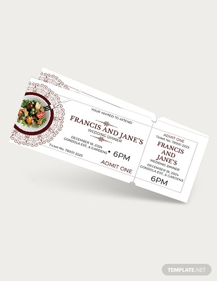 Wedding Dinner Ticket Download