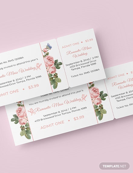 Wedding Event Ticket Download
