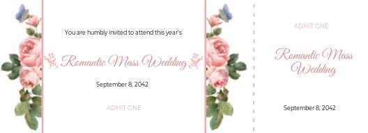 Wedding Event Ticket Template