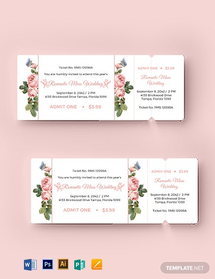 wedding event ticket