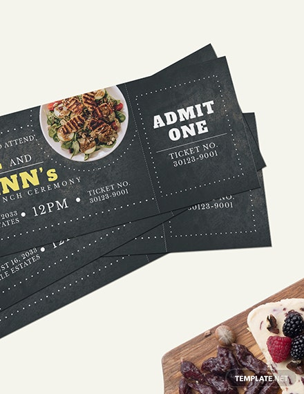 Sample Wedding Lunch Ticket