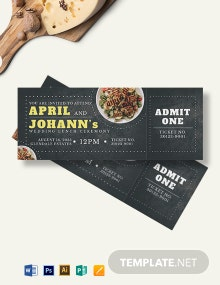 Wedding Lunch Ticket Template