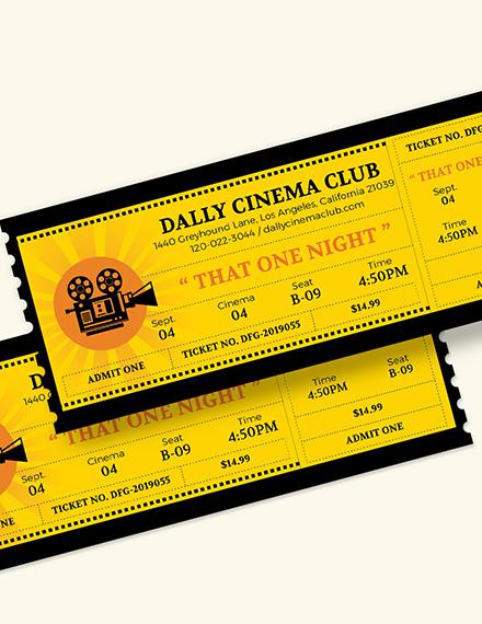 Sample Wedding Movie Ticket