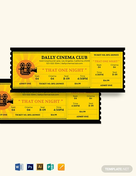 Wedding Movie Ticket Template