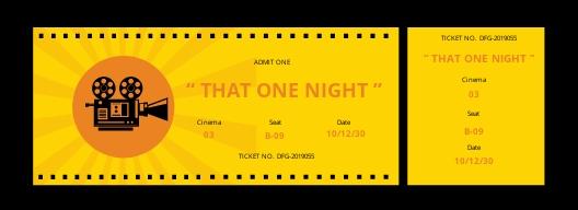 Wedding Movie Ticket Template