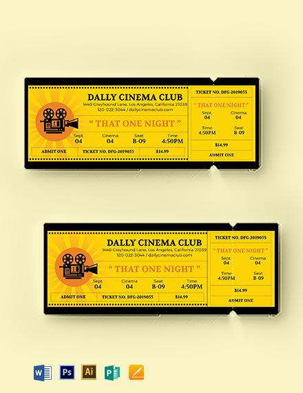wedding movie ticket