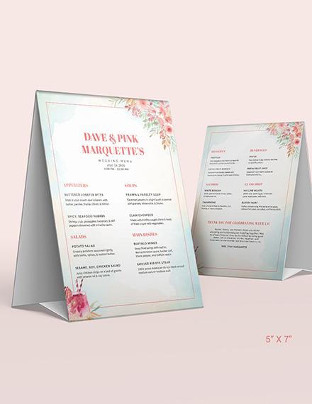 Sample Cocktail Wedding Menu