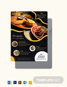 Dinner Flyer Menu Template