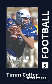 Sports Trading Card Template