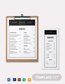 Simple Sandwich- Sub Menu Template