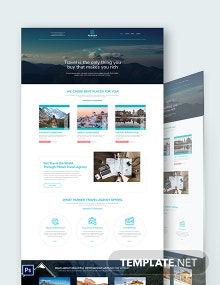 Travel Agency PSD Landing Page Template