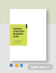1 Year Annual Strategic Plan Template