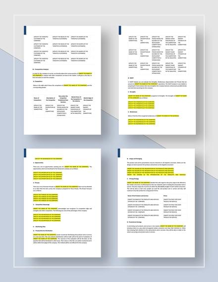 Printable  Year Business Plan