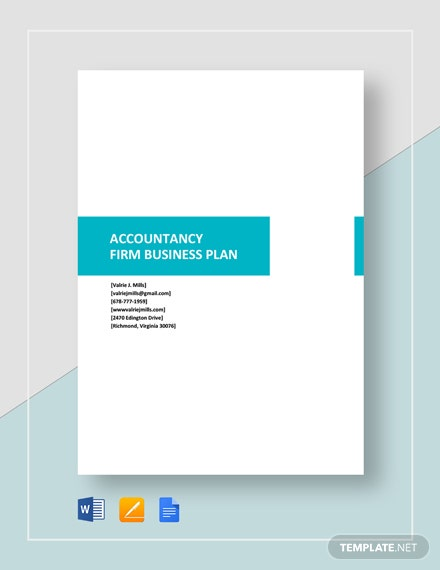 Accountancy Firm Business Plan Template