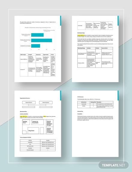 Sample Accountancy Firm Business Plan
