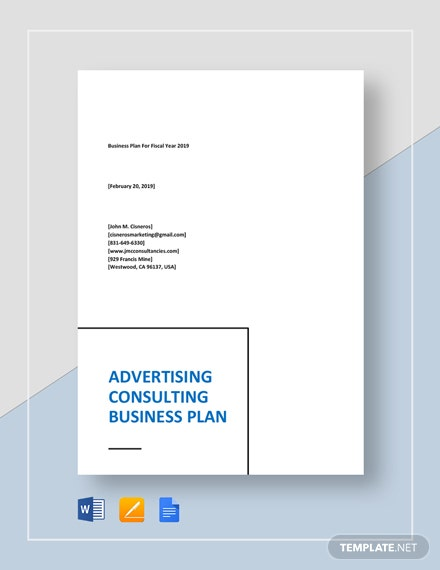 advertising consulting business plan