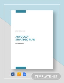 Advocacy Strategy Plan Template
