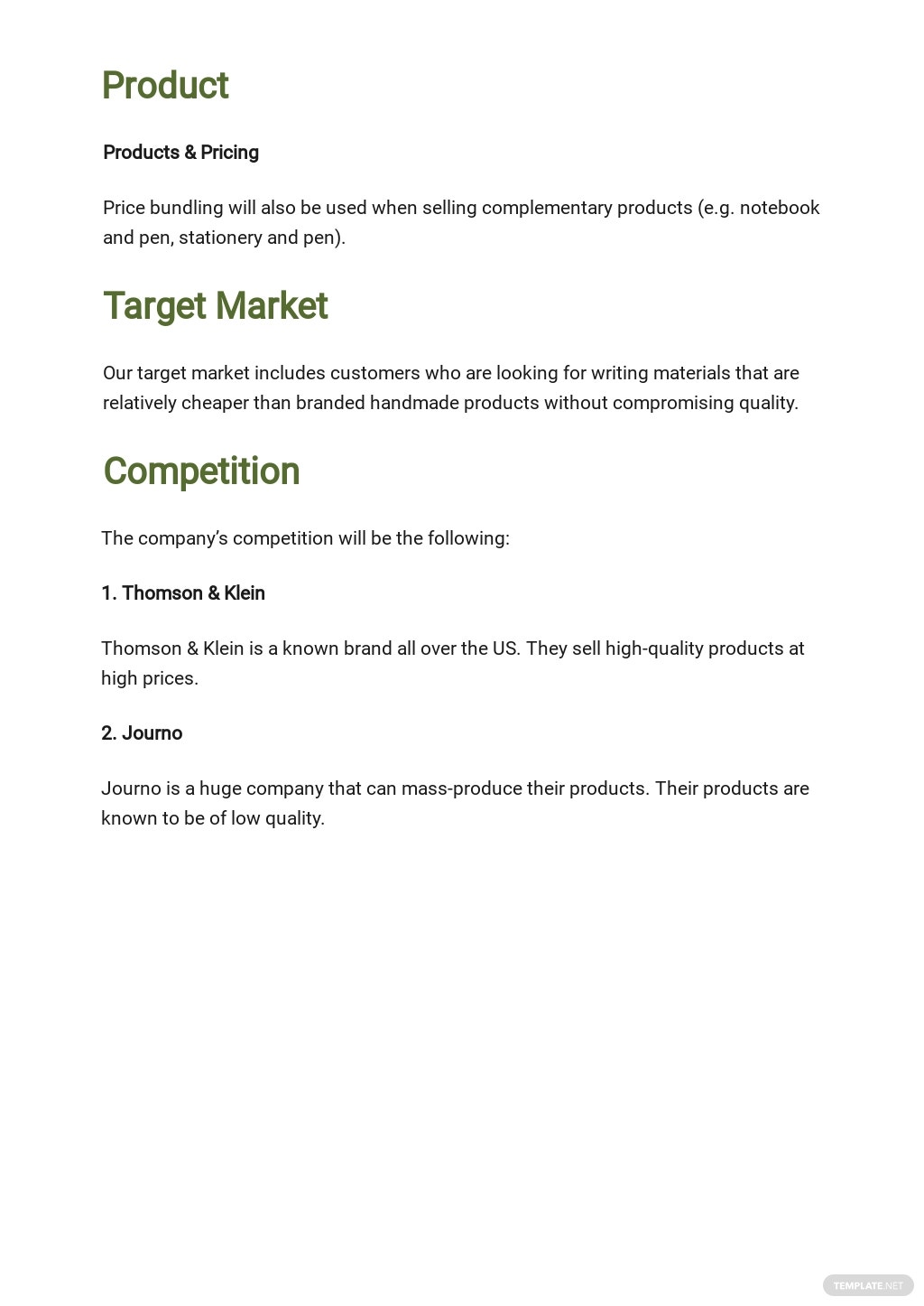 Amazon Store Business Plan Template 2.jpe
