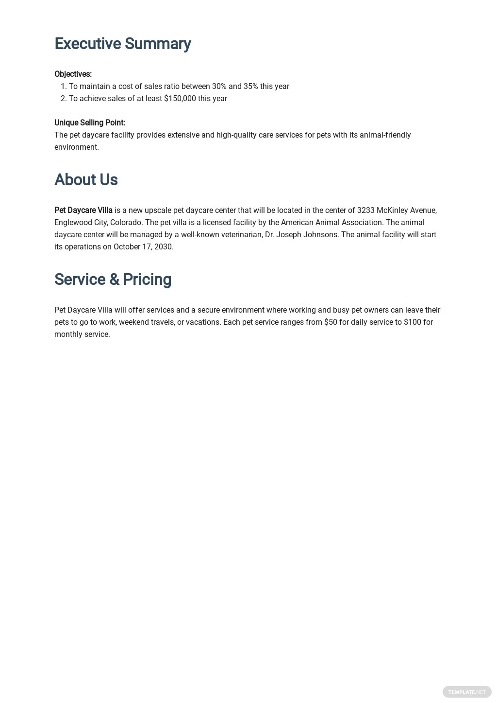 Animal Day Care Business Plan Template 1.jpe