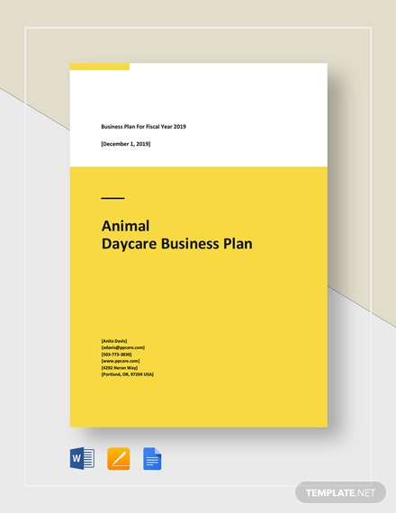 Animal Day Care Business Plan Template