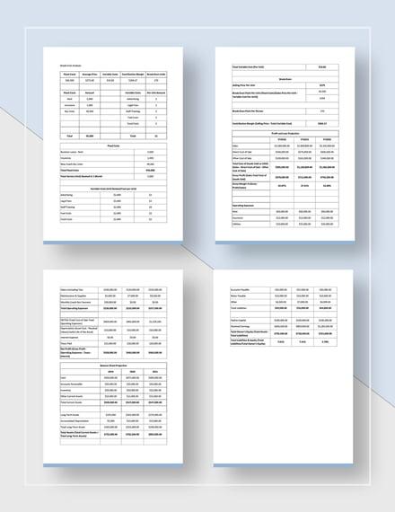 Annual Marketing Plan Template - Word | Google Docs | Apple