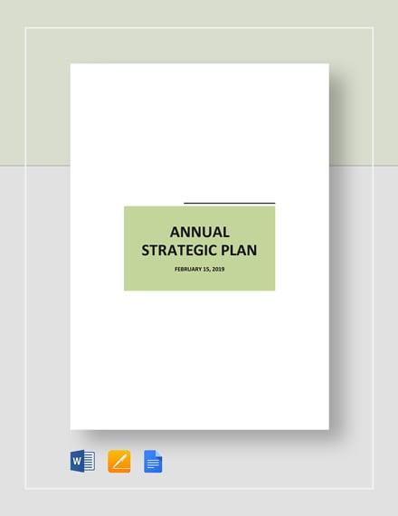 Annual Strategic Plan Template