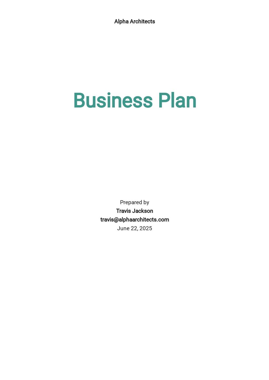 Architect Business Plan Template.jpe