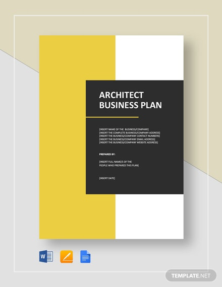 Architect Business Plan Template
