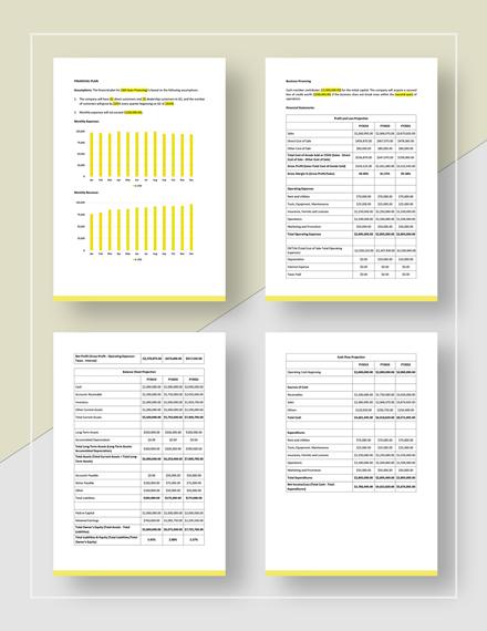 Sample Auto Loan Business Plan