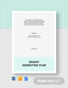 Bakery Marketing Plan Template