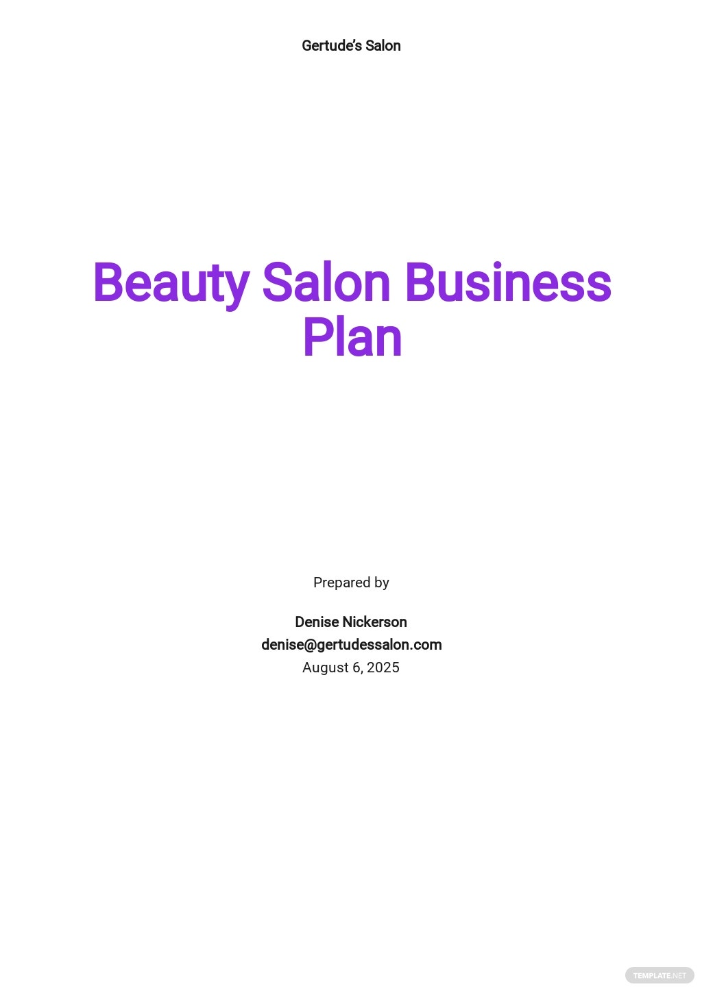 Beauty Salon Business Plan Template.jpe