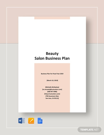 Beauty Salon Business Plan Template