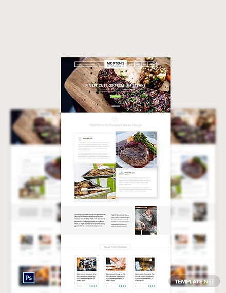 Steak House PSD Landing Page Template