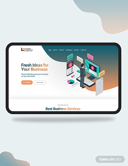 Marketing Agency Landing Page Download