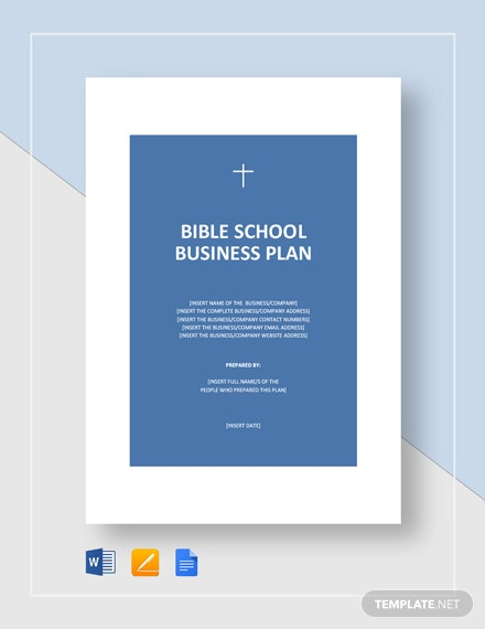 Bible School Business Plan Template