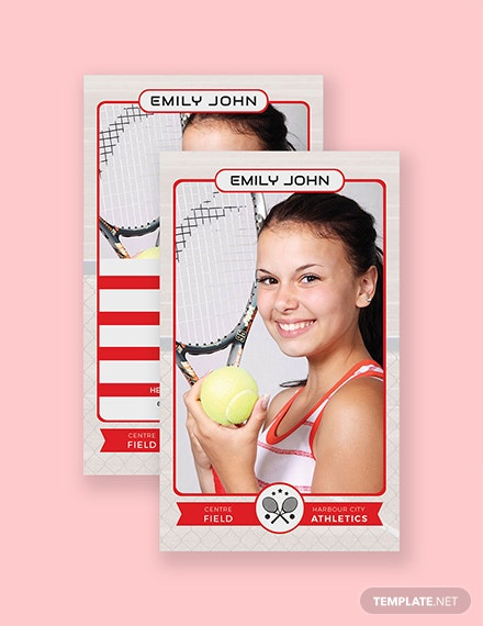 Free Tennis Trading Card Template