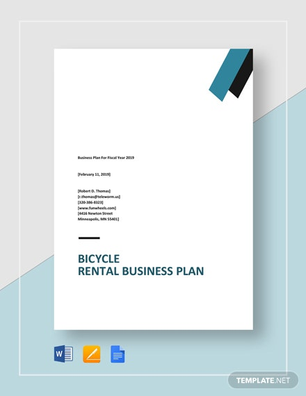 Bicycle Rental Business Plan Template