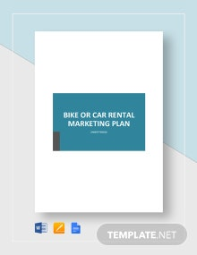 Bike or Car Rental Marketing Plan Template